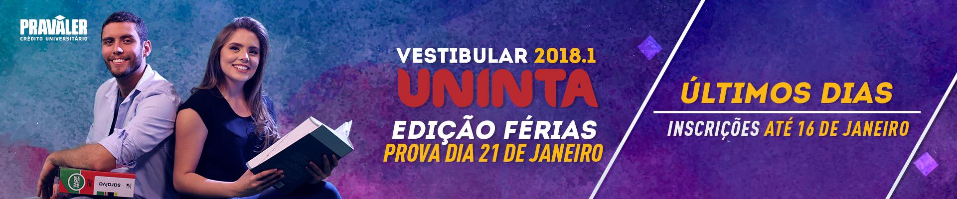 Vestibular de Férias 2018.1