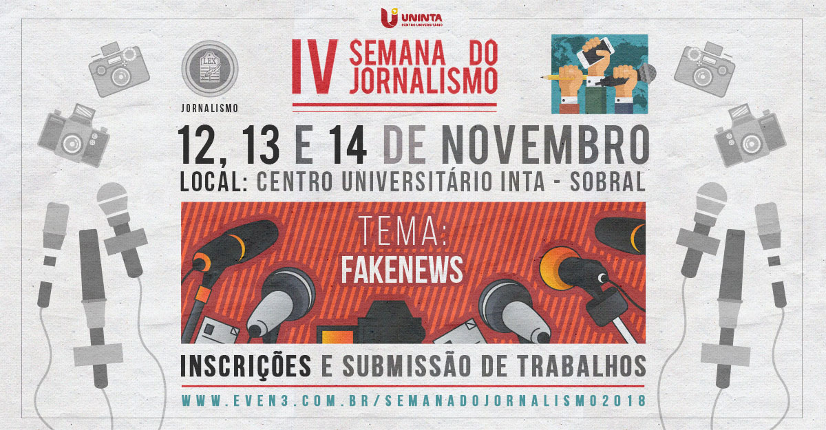 Resultado de imagem para IV Semana do Jornalismo traz o tema Fake News