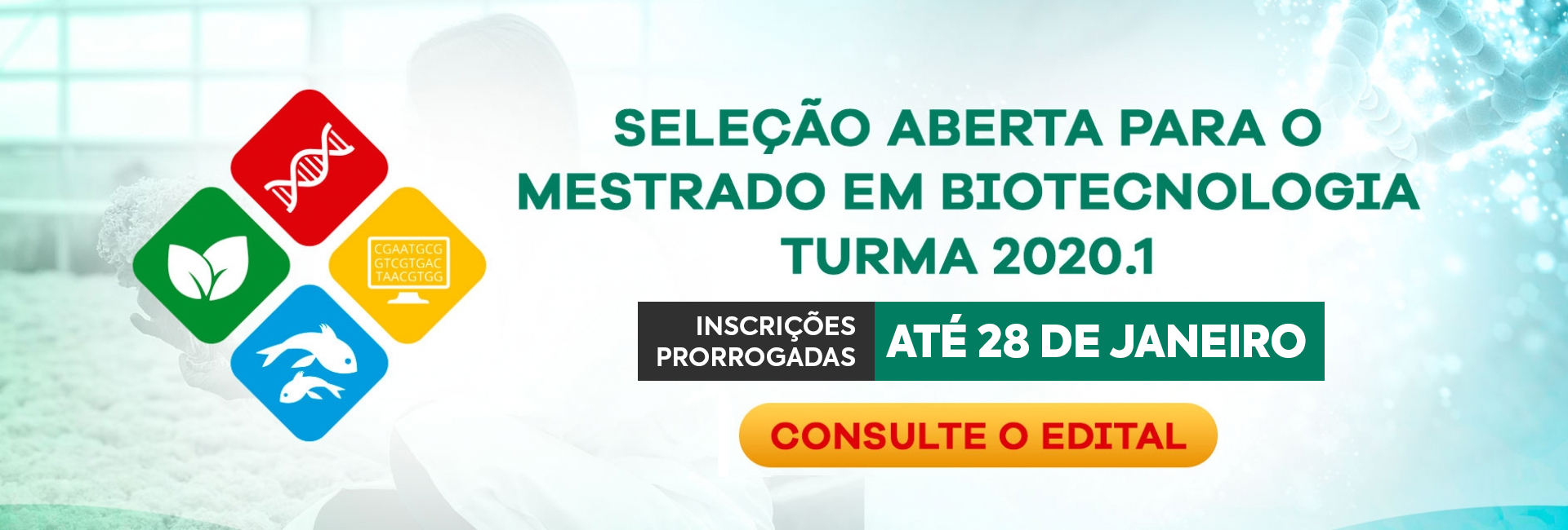 Mestrado em Biotecnologia - Seleção aberta