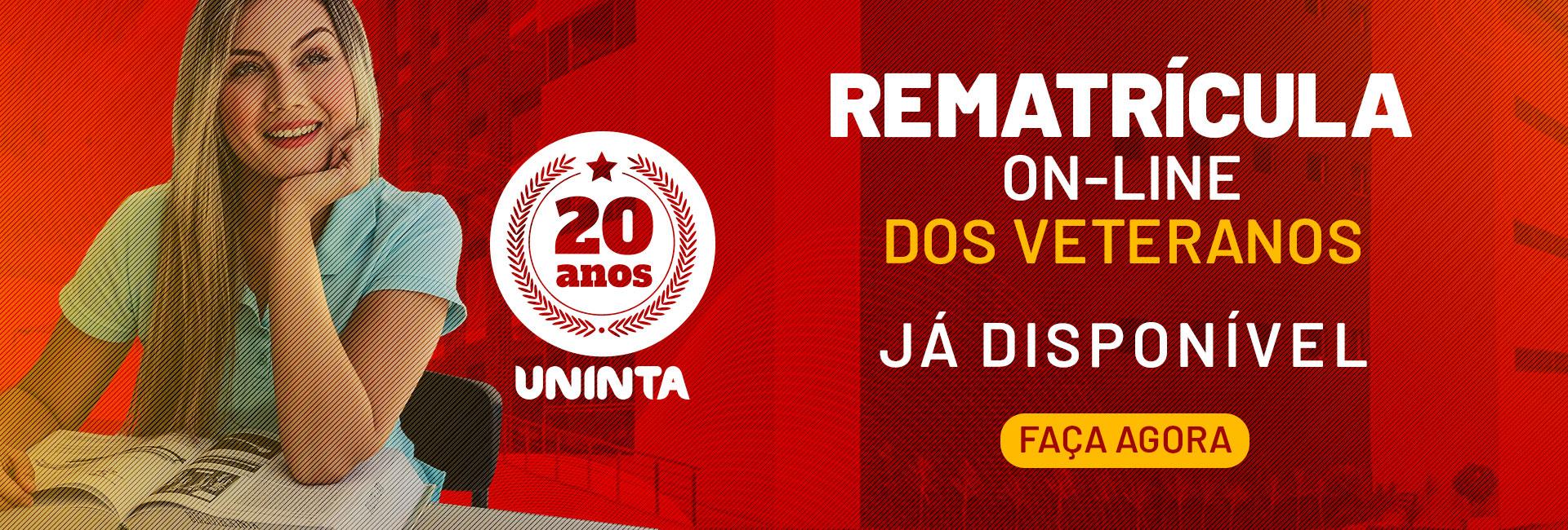 Rematrícula On-line dos Veteranos - FAÇA AGORA!