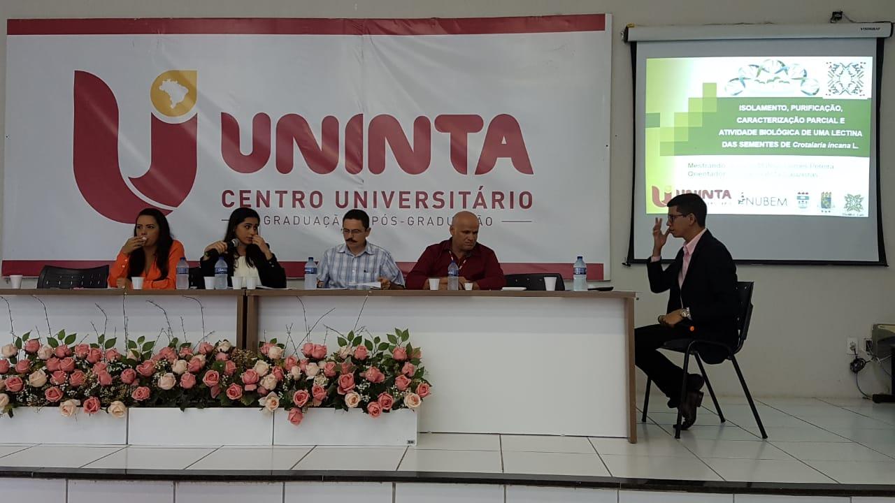 Defesa de dissertação do Mestrado em Biotecnologia do aluno Antonio Mateus Gomes Pereira em 21-02-2019