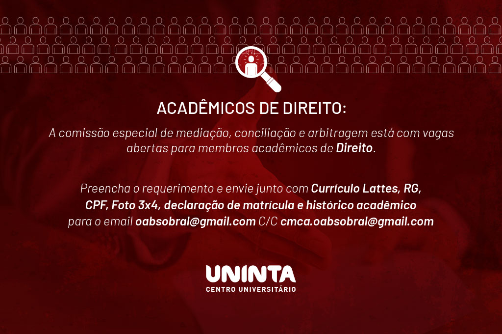 CEMCA OAB Sobral recruta acadêmicos de Direito