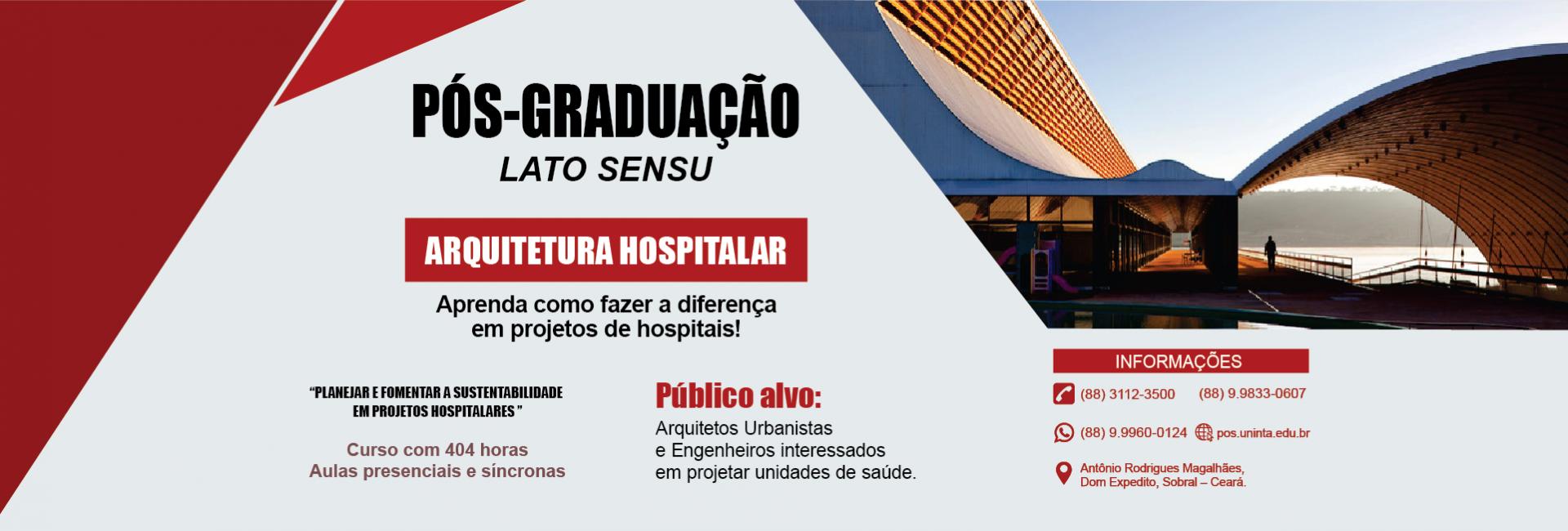 Pós-graduaçãio em Arqitetura Hospitalar