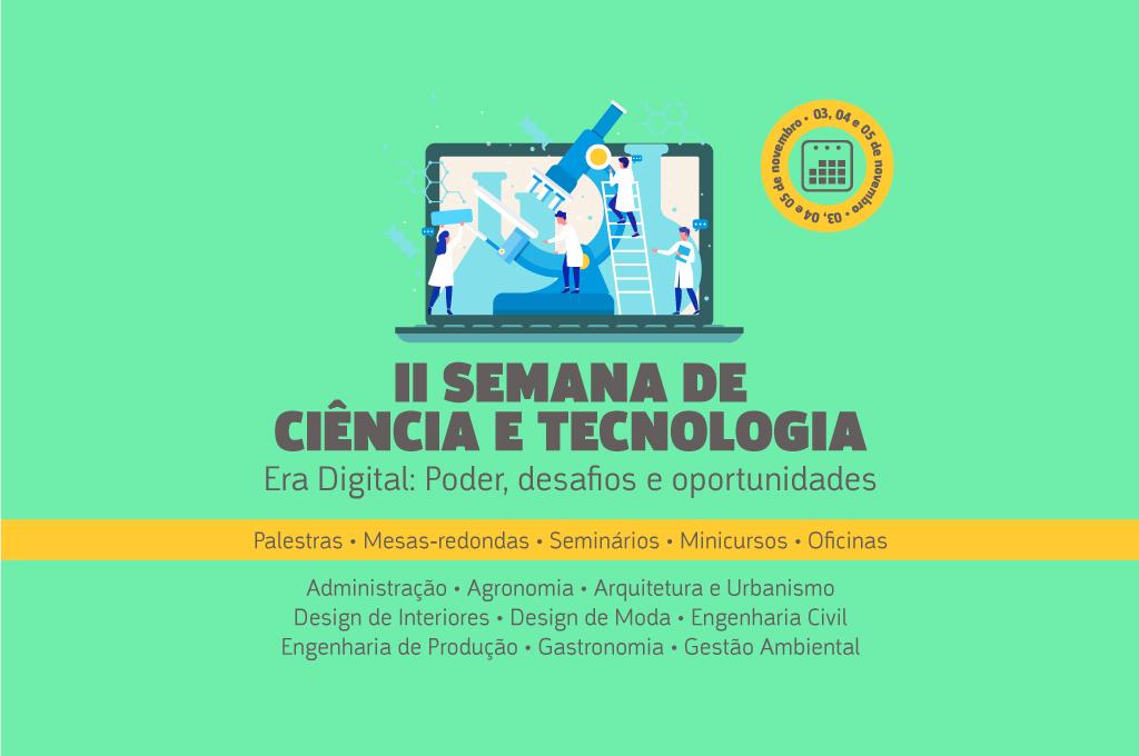 UNINTA abre inscrições para a II Semana de Ciências e Tecnologia