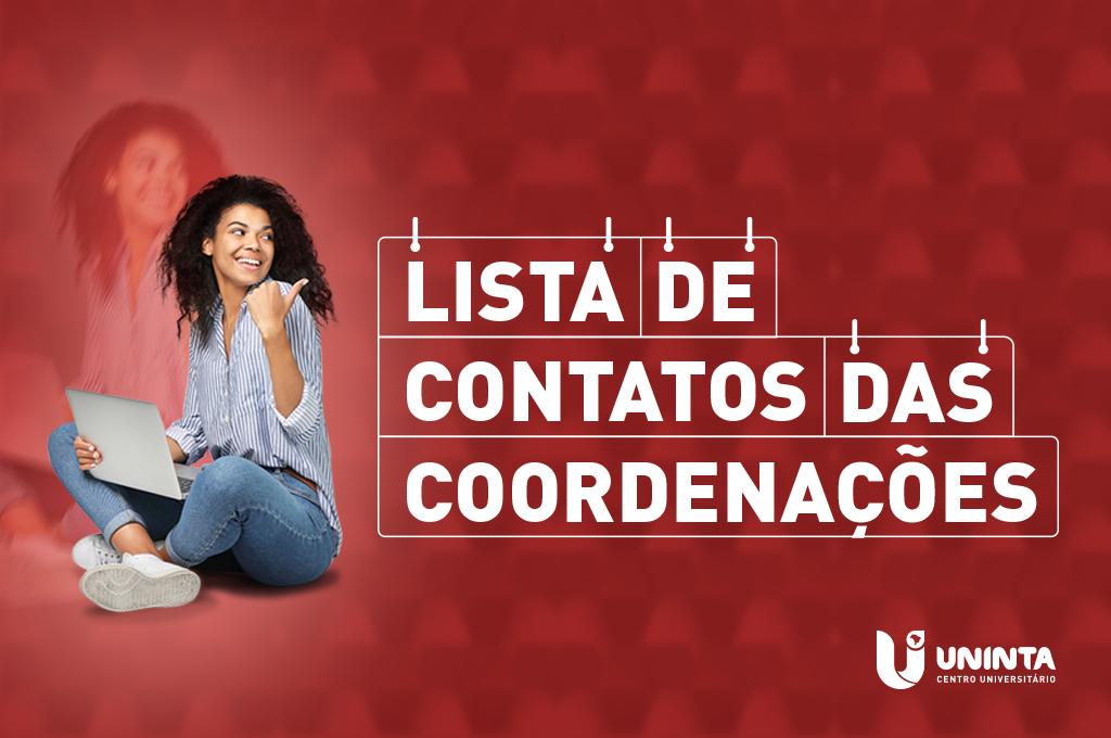 Coordenações do UNINTA atualizam lista de contatos para atendimento ao estudante