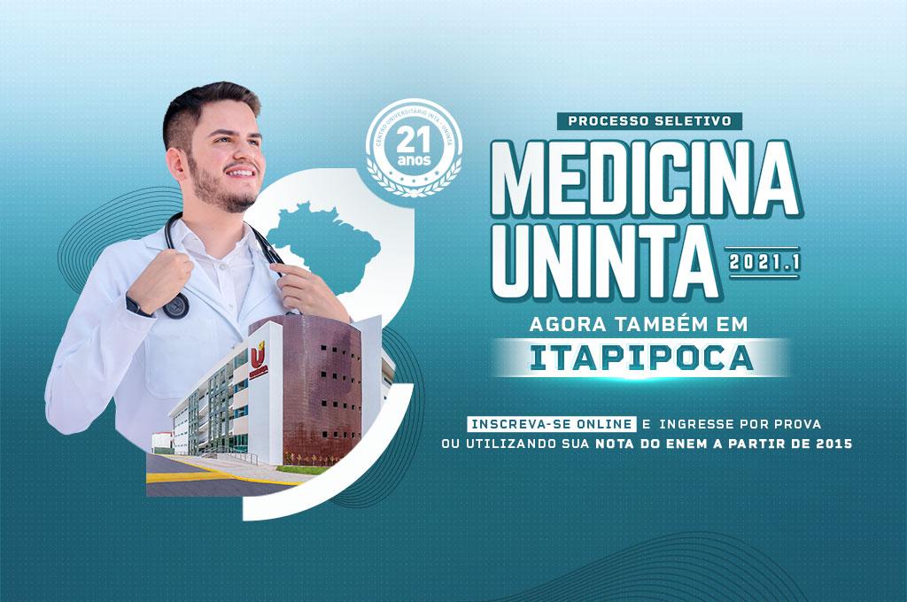 Medicina UNINTA – Campus Itapipoca: Inscrições abertas para o Processo Seletivo 2021.1