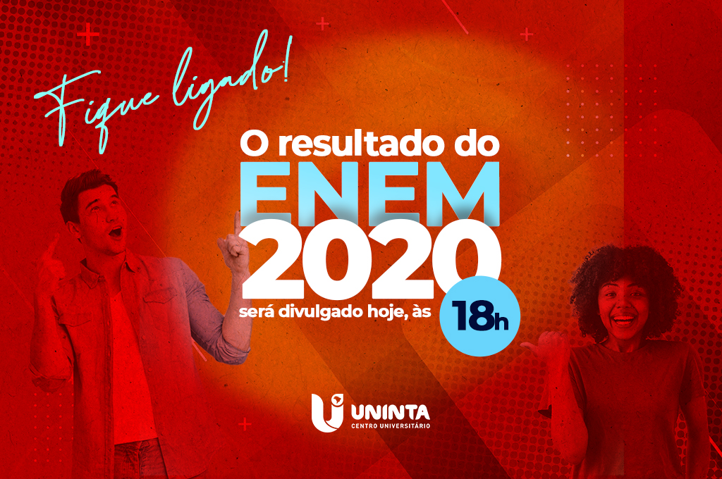 Resultado final do ENEM será divulgado nesta segunda; Estudantes poderão utilizar a nota no Processo Seletivo do UNINTA 2021.2 a partir do mês que vem
