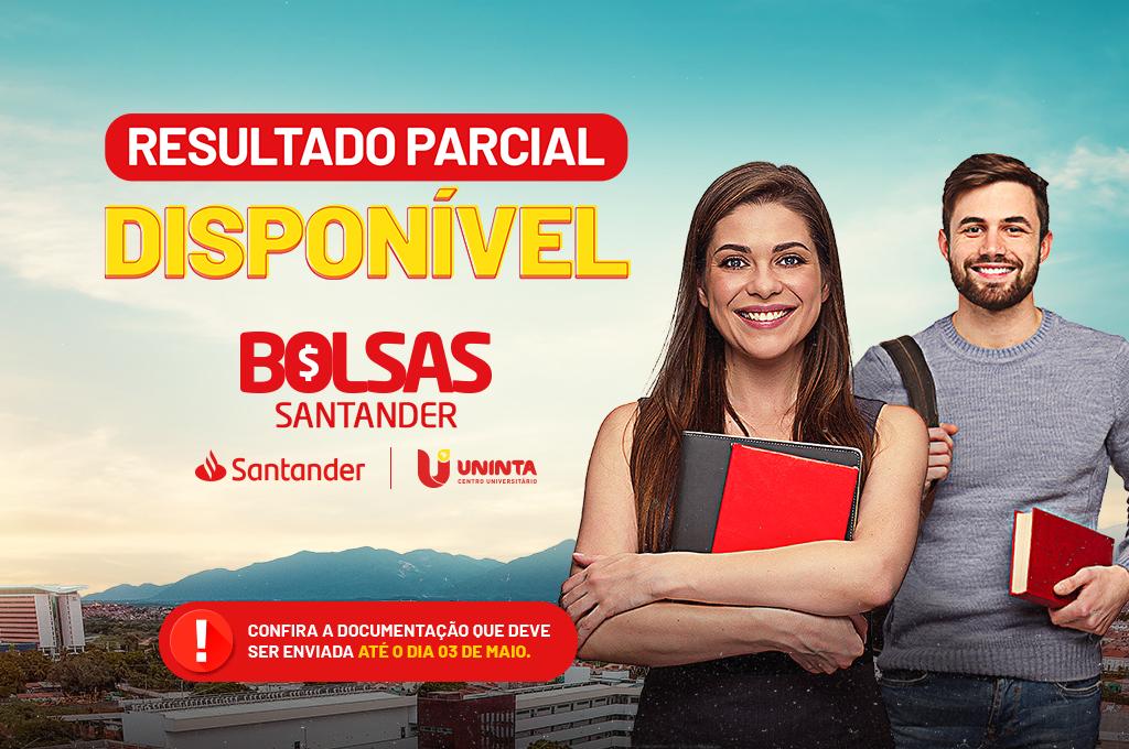 Bolsas Santander: Resultado parcial disponível