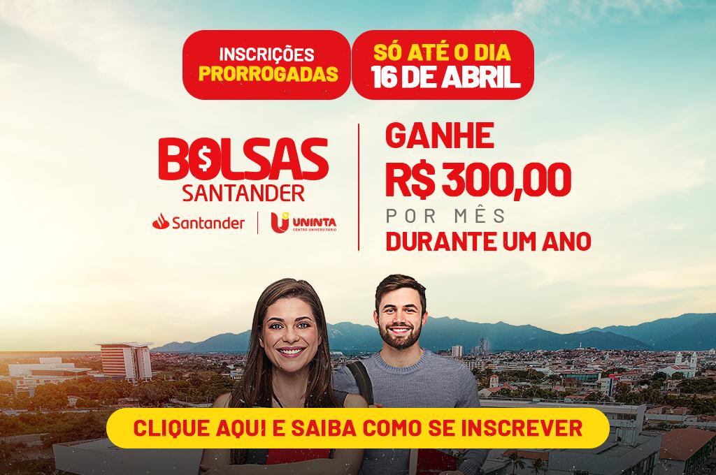 Bolsas Santander: inscrições prorrogadas até sexta-feira, 16 de abril