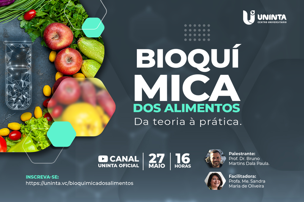 Bioquímica dos Alimentos é tema de palestra do Curso de Nutrição
