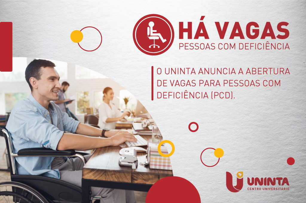 UNINTA anuncia vagas para pessoas com deficiência (PcD)