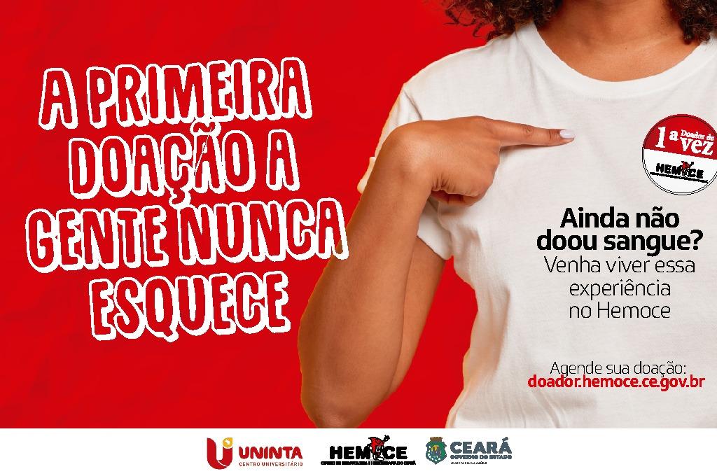UNINTA apoia Hemoce Ceará em campanha para sensibilizar novos doadores