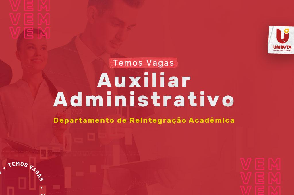 UNINTA disponibiliza 01 (uma) vaga para auxiliar administrativo – DRA