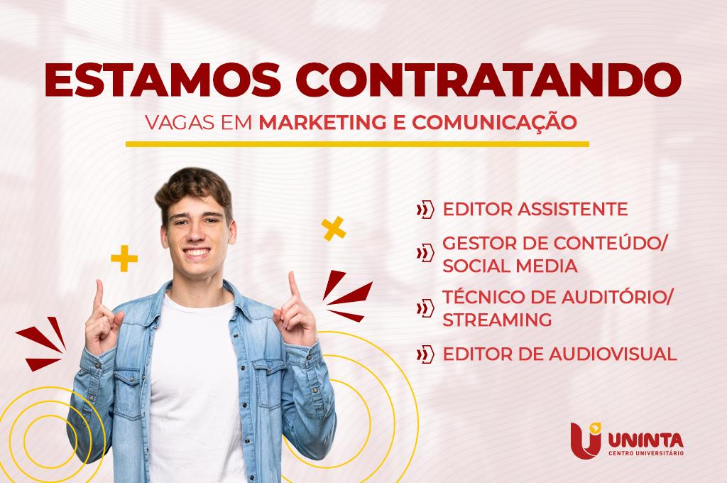UNINTA abre oportunidade para novos profissionais de Marketing e Comunicação